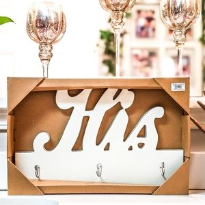 """His"" Keys Hanger, Towel Hanger, Coat Rack Decor"
